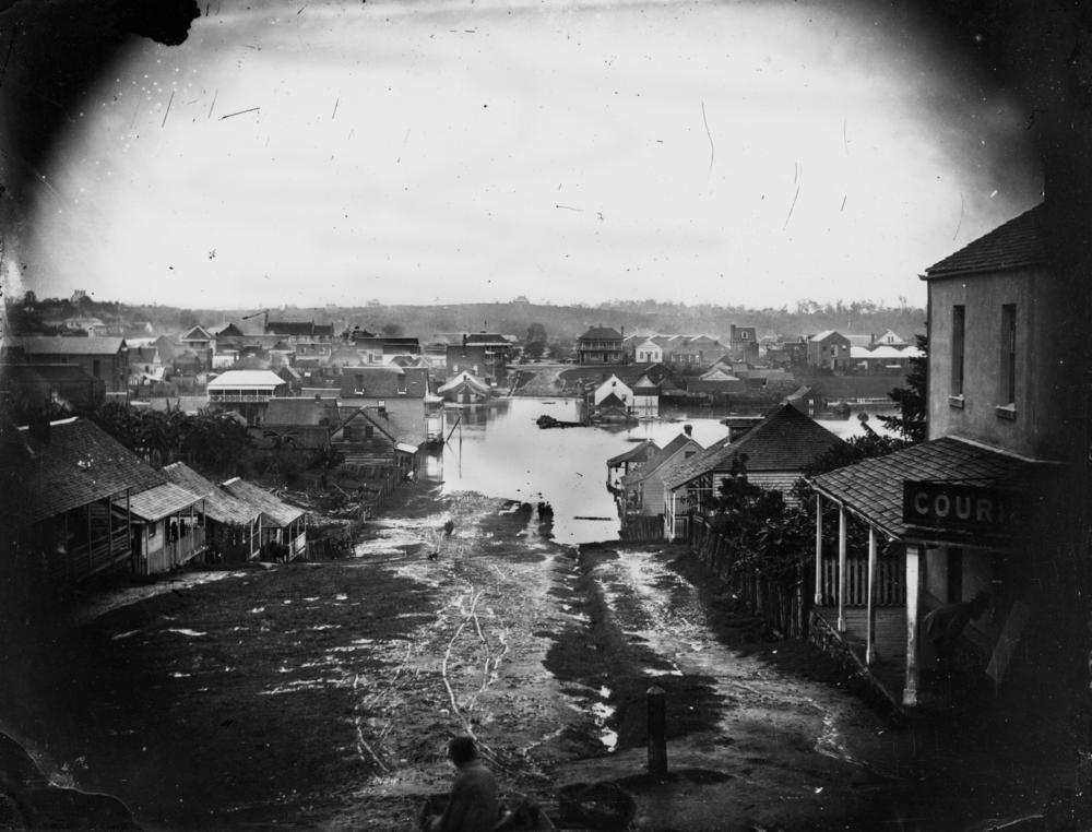 StateLibQld_1_88612_Charlotte_Street,_Brisbane,_during_the_1864_flood